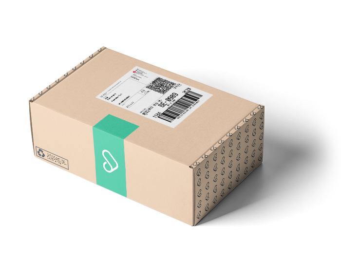 Pakket met verzendlabel